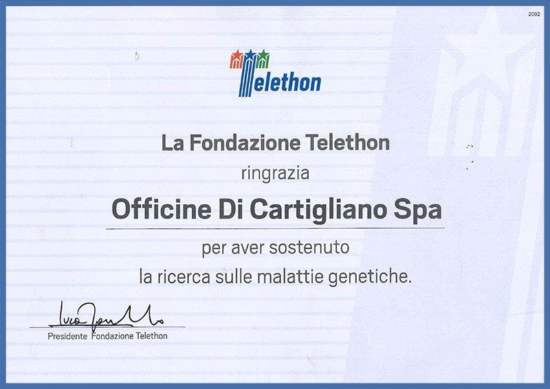 Officine di Cartigliano | Il nostro sostegno a Telethon