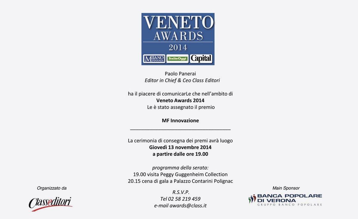 Officine di Cartigliano vince il premio MF Innovazione
