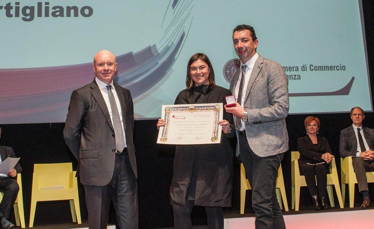 Foto della premiazione di ieri 9/11/201 PREMIO PIGAFETTA 2017 conferito dalla CCIAA di Vicenza presso Sala Palladio di Vicenza